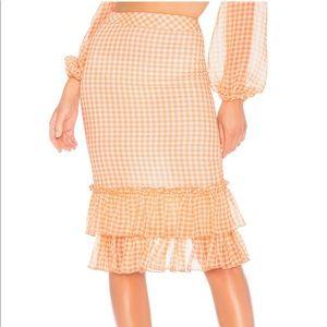 NWT high waist ruffle skirt